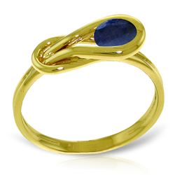 ALARRI 0.65 Carat 14K Solid Gold Right Timing Sapphire Ring