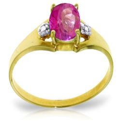 ALARRI 0.76 CTW 14K Solid Gold Dreams Don't Recede Pink Topaz Diamond Ring