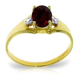 ALARRI 0.76 CTW 14K Solid Gold Dance Barefoot Garnet Diamond Ring
