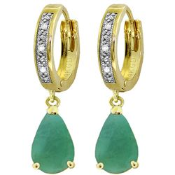 ALARRI 2.03 CTW 14K Solid Gold Lauralee Emerald Diamond Earrings