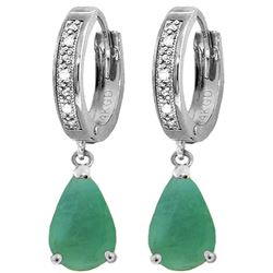ALARRI 2.03 CTW 14K Solid White Gold Smart Savvy Emerald Diamond Earrings
