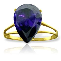 ALARRI 4.65 Carat 14K Solid Gold Don't Turn Back Sapphire Ring