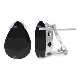 ALARRI 9.3 Carat 14K Solid White Gold Gem Of A Moment Sapphire Earrings