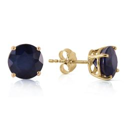 ALARRI 3.3 Carat 14K Solid Gold Once Upon A Love Sapphire Earrings