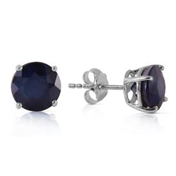 ALARRI 3.3 Carat 14K Solid White Gold Life's Instructions Sapphire Earrings