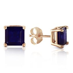 ALARRI 2.9 Carat 14K Solid Gold My Last Love Sapphire Earrings