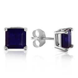 ALARRI 2.9 Carat 14K Solid White Gold Someone You Love Sapphire Earrings