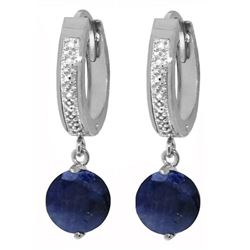 ALARRI 3.33 Carat 14K Solid White Gold Despite The Demands Sapphire Diamond Earrings