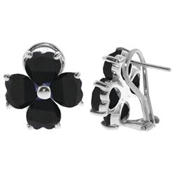 ALARRI 7.2 Carat 14K Solid White Gold Swing Sapphire Earrings