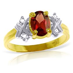 ALARRI 0.97 Carat 14K Solid Gold Let's Talk Garnet Diamond Ring