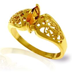 ALARRI 0.2 CTW 14K Solid Gold Lily Citrine Ring