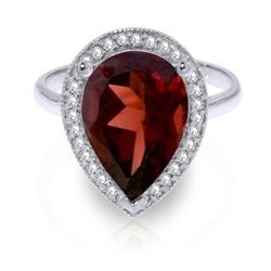 ALARRI 4.06 Carat 14K Solid White Gold Intuitions Garnet Diamond Ring
