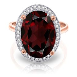 ALARRI 6.18 CTW 14K Solid Rose Gold Loren Garnet Diamond Ring