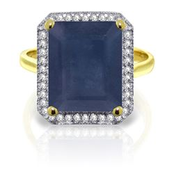 ALARRI 6.6 CTW 14K Solid Gold Persued By Angels Sapphire Diamond Ring