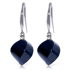 ALARRI 30.6 Carat 14K Solid White Gold Unpredictable Choice Sapphire Diamond Earrings