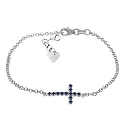 ALARRI 0.3 CTW 14K Solid White Gold Patient And Kind Sapphire Bracelet