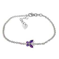 ALARRI 0.6 Carat 14K Solid White Gold Looking Forward Amethyst Bracelet