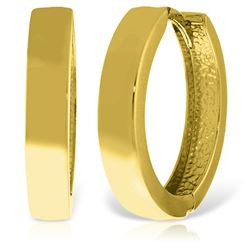 ALARRI 14K Solid Gold 19.00 mm Diameter Hoop Huggie Earrings
