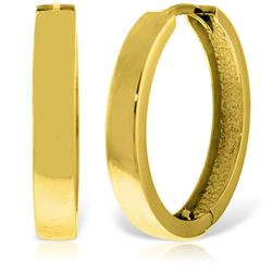 ALARRI 14K Solid Gold 23.50 mm Diameter Hoop Huggie Earrings
