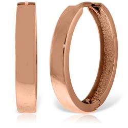 ALARRI 14K Solid Rose Gold 23.50 mm Diameter Hoop Huggie Earrings