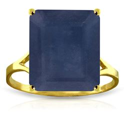 ALARRI 14K Solid Gold Ring w/ Natural Octagon Sapphire