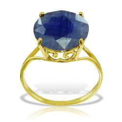 ALARRI 14K Solid Gold Ring w/ Natural 12.0 mm Round Sapphire
