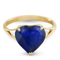 ALARRI 14K Solid Gold Ring w/ Natural 10.0 mm Heart Sapphire