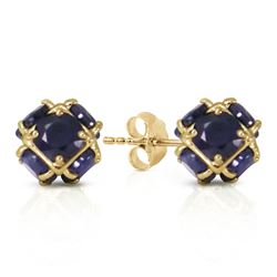ALARRI 14K Solid Gold Stud Earrings w/ Natural Sapphires
