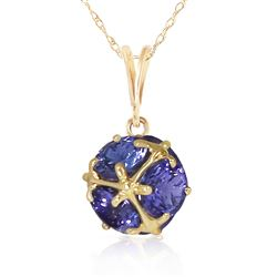 ALARRI 14K Solid Gold Necklace w/ Natural Tanzanites