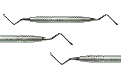 OsteoGen Plug Serrated Curette (Small - 2.4mm)