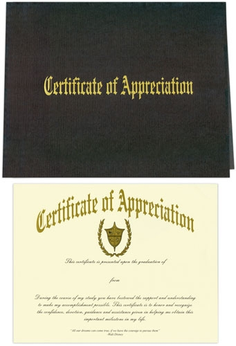 Certificate of appreciation and cover yadclub Choice Image