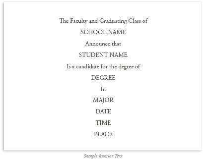 college university traditional graduation invitations