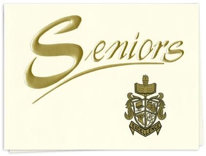 seniors traditional graduation invitations