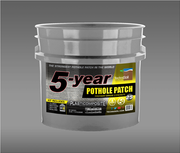 5-Year Pothole Patch: Highway Grade Concrete 25lb Bucket Kit