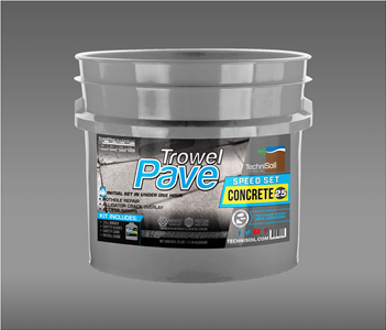 TechniSoil TrowelPave Concrete - Speed Set (25-pound bucket kit)