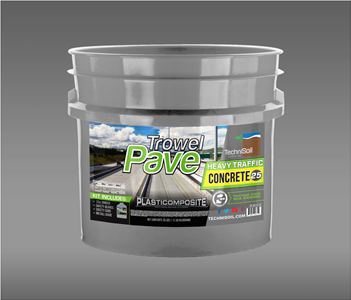 TrowelPave Heavy Traffic Concrete 25lb Bucket Kit