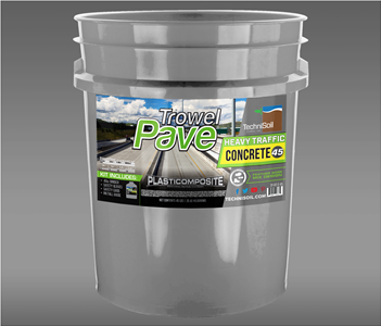 TrowelPave Heavy Traffic Concrete 45lb Bucket Kit