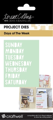 Teresa Collins Days Of The Week Pocket Dies