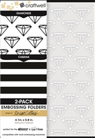 Teresa Collins 2-Pack A6 Folders, Diamonds & Cabana
