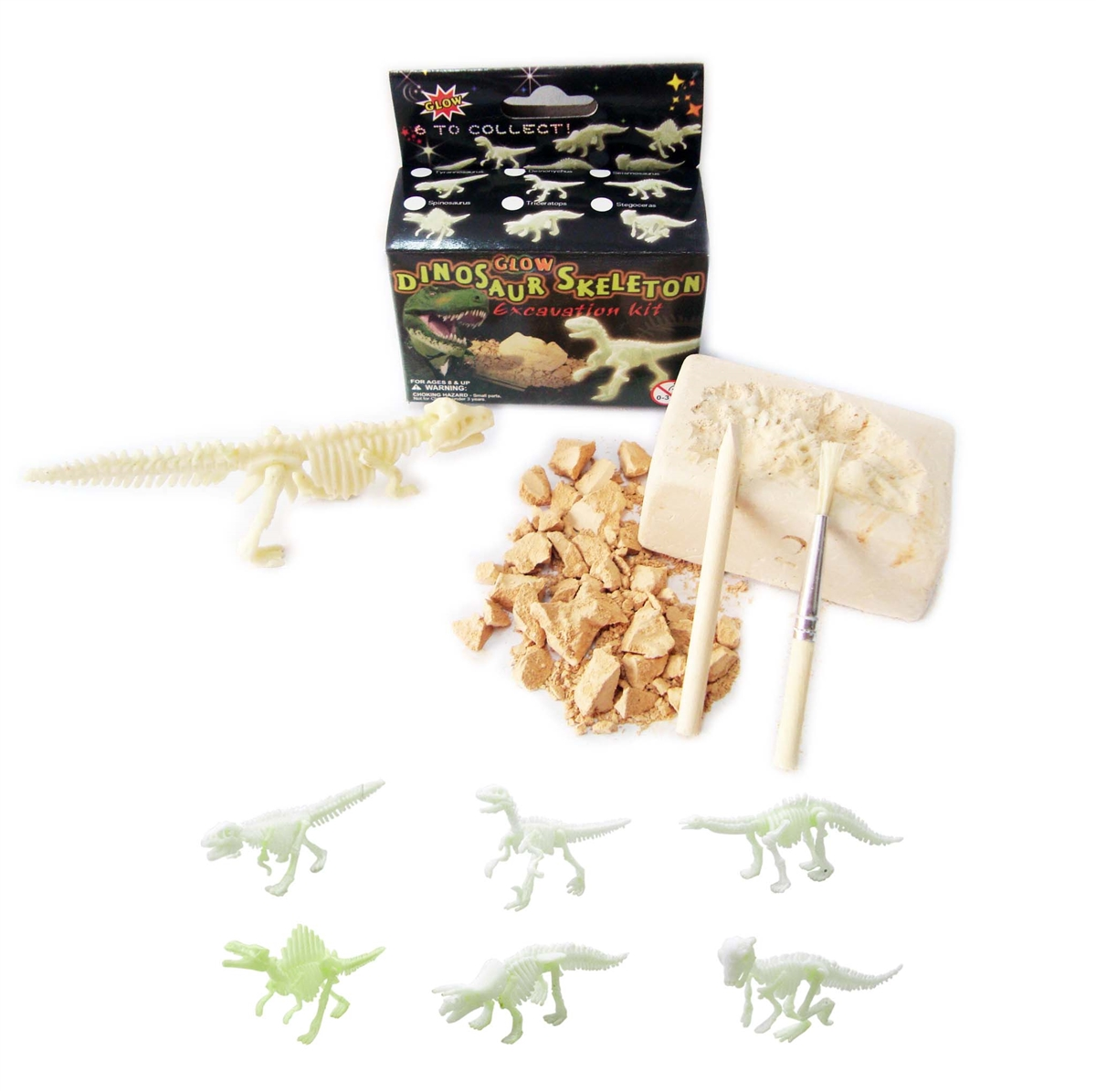 Small Excavation Kit - Glow in the Dark Dinosaur