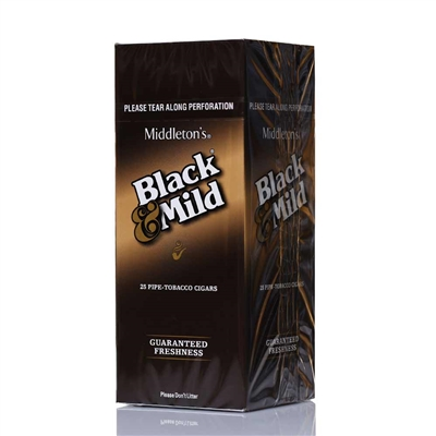BLACK AND MILD PLASTIC TIP SINGLE 25CT