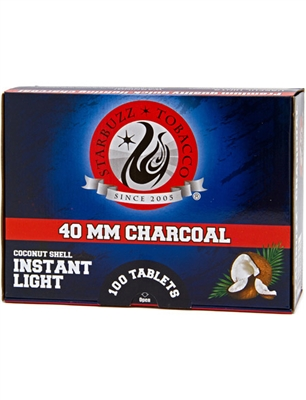 Starbuzz Instant Light Hookah Charcoal 40mm