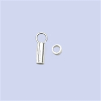 Sterling Silver Crimp End - BRIGHT 2.0mm