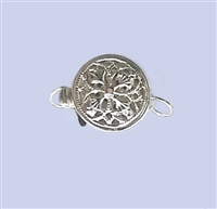 Sterling Silver Filigree - Small Round Clasp