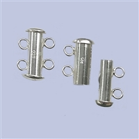 Sterling Silver Tube Clasp - 2 Row 16mm