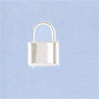 Sterling Silver Padlock Clasp - Large 14x20mm.