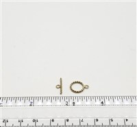 Gold Filled Clasp - Toggle Twisted 11mm