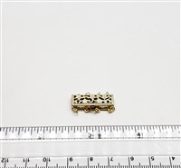 Gold Filled Clasp - Filligree Rectangle 4 Row