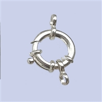 Sterling Silver Fancy Spring Ring 16mm