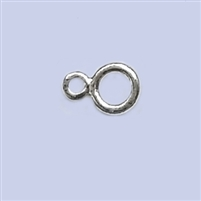 "Sterling Silver Double Ring ""8""  - Large 7mm"